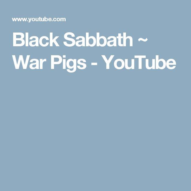 Black Sabbath ~ War Pigs - YouTube