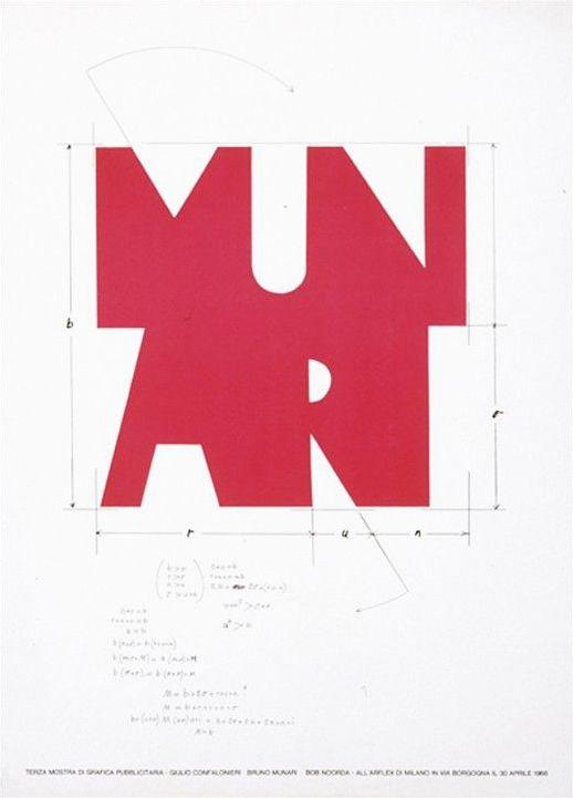 Bruno Munari, Progetto per logo personale, 1968