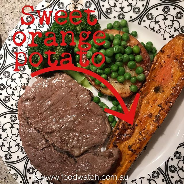 Im in love with the long orange sweet potato that you can do soooo much with  Here cut lengthwise and baked for 20 mins with a brush of olive oil plus a sprinkle of dried oregano  Simple easy for me it has to be You too will love them. A gorgeous accompaniment to grilled or barbecued meat or fish  Give them a go! #BalancedDinner #BalancedDinners #Basic