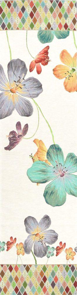 Chemin de table fleurs Géraniums des prés, rouges - Objets déco - Art de Lys