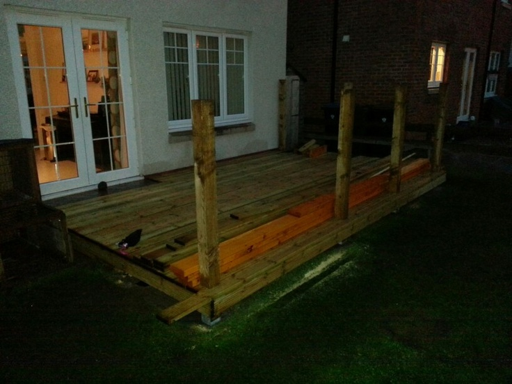 Decking in dark