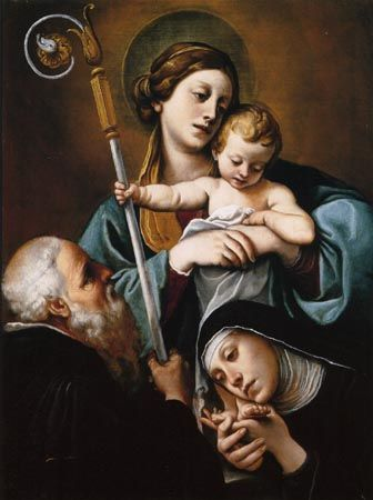 File:Tiarini Virgen con niño y santa Escolástica y San benito Museo della Rocca, Dozza.jpg