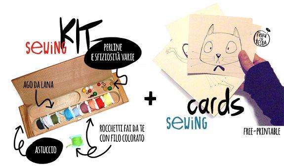 FIORI IN TESTA: Giochi di PRECISIONE: SEWING KIT con SEWING CARD f...