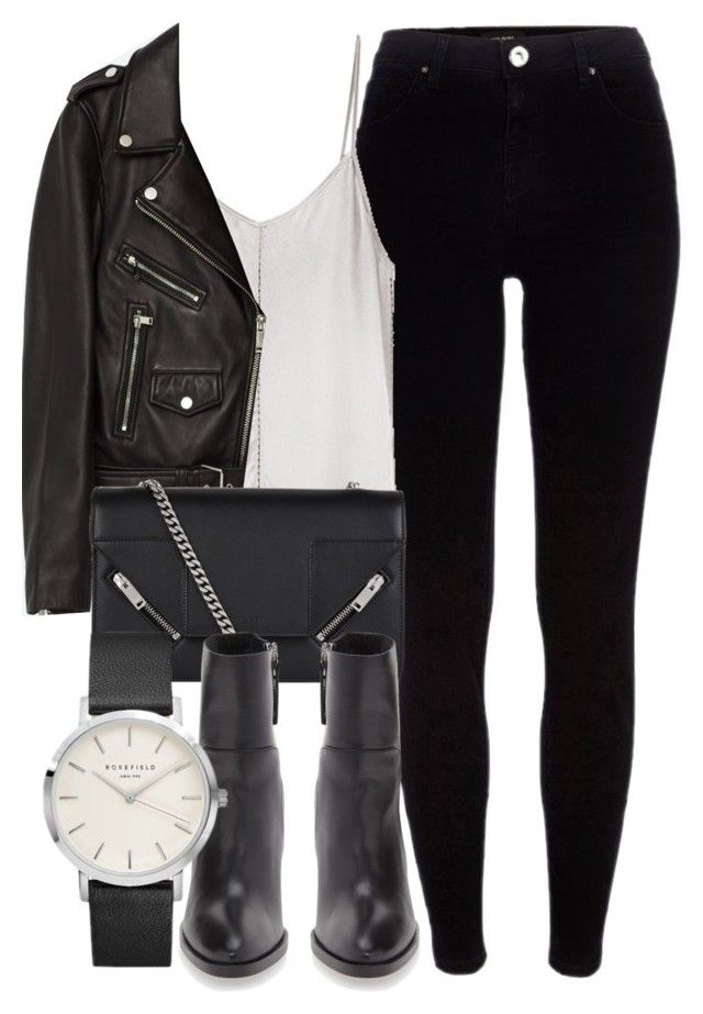 """Untitled #6430"" by laurenmboot ❤ liked on Polyvore featuring River Island, Ian R.N., Jakke, Yves Saint Laurent and Topshop"