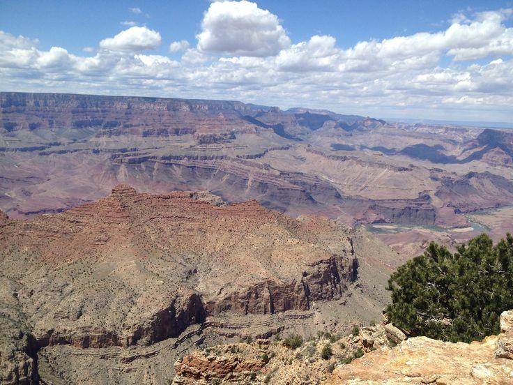 Colorado river flowing over through the grandeur Grand canyon