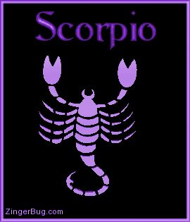 Purple Scorpio Sign | Copy the code above and paste into the html design view of any profile ...