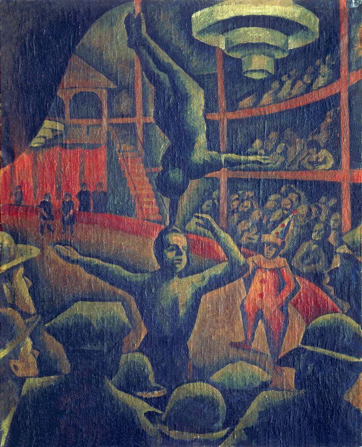 Bohumil Kubišta (République Tchèque, 1884-1918) – Cirkus (1911) Galerie umění Karlovy Vary