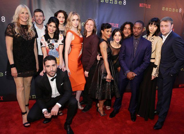 Daryl Hannah, Naveen Andrews, Doona Bae, Max Riemelt, Freema Agyeman, Aml Ameen, Brian J. Smith, Miguel Ángel Silvestre, Cindy Holland, Tuppence Middleton, Tina Desai, Jamie Clayton and Erendira Ibarra at event of Sense8 (2015)