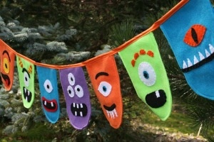 Monster Party Banner-monster party banner