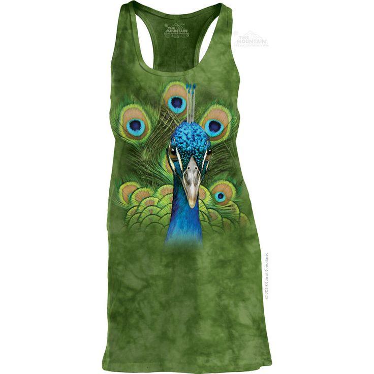 The Mountain Vibrant Peacock Racerback Dress