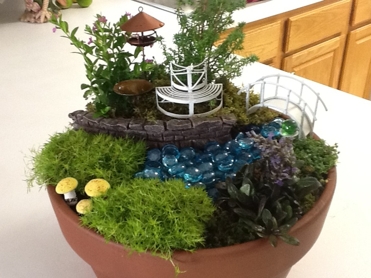 Container fairy garden in the garden pinterest for How to make a fairy garden container
