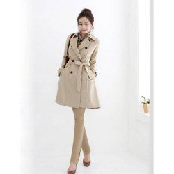 $21.24 Office Lady All Match Slim and Decent Dust Coat For Female perfect for castiel cosplay!! so want