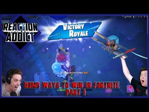 Dumb Ways to WIN in Fortnite Battle Royale #1 Ft LazarBeam