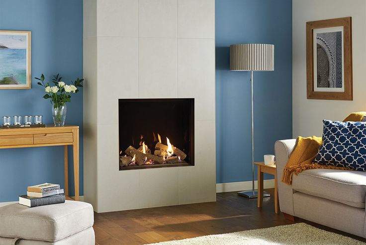 The Gazco Riva2 750HL Edge is a breathtaking hole-in-the wall gas fire, featuring a striking log design with a realistic glowing embed bed. This minimalist