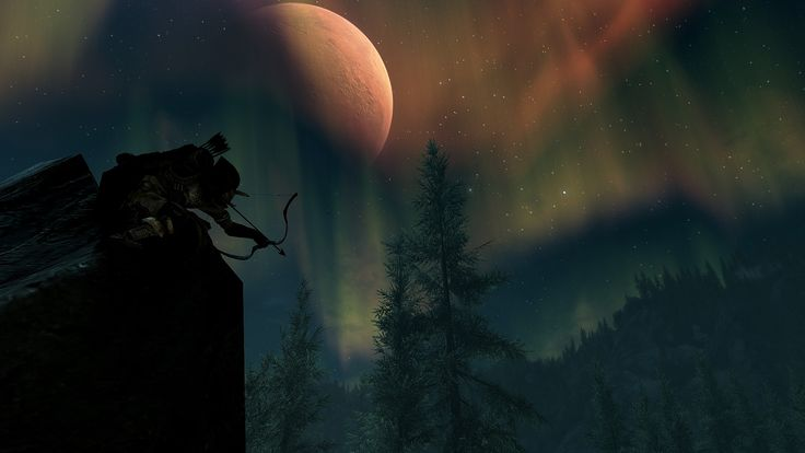 Sniping by moonlight #games #Skyrim #elderscrolls #BE3 #gaming #videogames #Concours #NGC