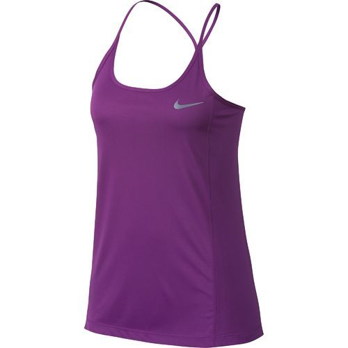 Nike Women's Dry Miler Running Tank Top (Bold Berry/Heather, Size Large) - Women's Athletic Apparel, Women's Athletic Performance Tops at Academy S...