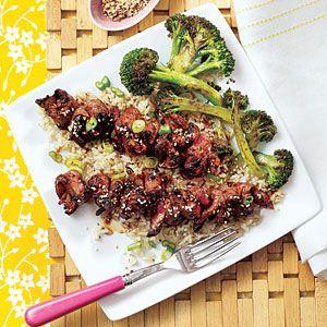 Grilled Teriyaki Steak Skewers Recipe