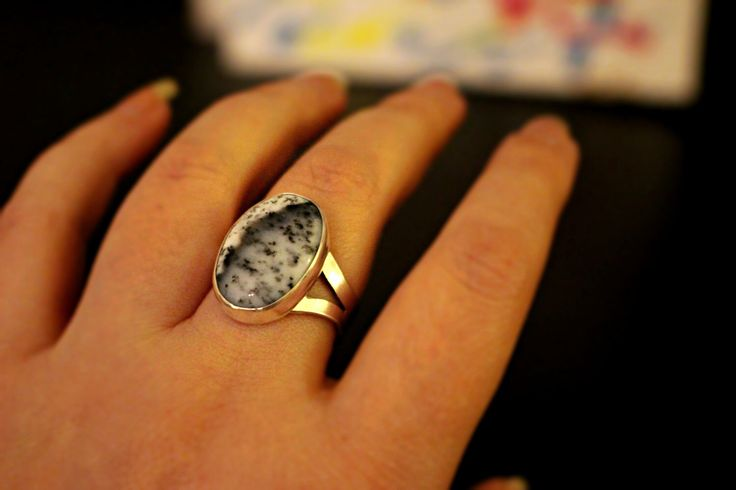 A personal favorite from my Etsy shop https://www.etsy.com/ca/listing/498118845/dendritic-agate-sterling-silver-ring
