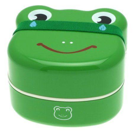 Kotobuki 2-Tiered Bento Box,Frog Face: Bento Boxes, 2Tier Bento, Kitchens Dining, Frogs Faces, Lunches Boxes, 2 Tiered Bento, Kotobuki 2 Tiered, Home Kitchens, Kid