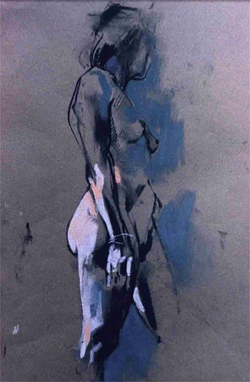 Crawfurd Adamson I charcoal & pastel  Love this, normal body!