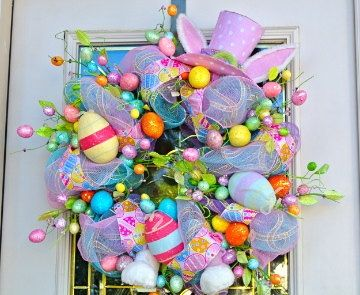 Easter Wreath Dollar Store