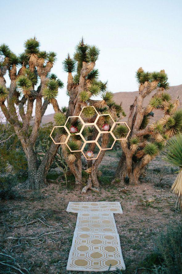 Mid-Century modern desert ceremony
