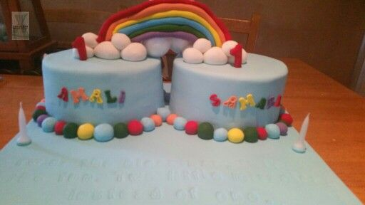 Twin cakes for twin girls
