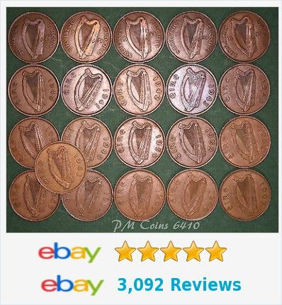 21 Irish Pennies 1d EIRE Ireland, 1928 to 1968 complete date run, coins [6410] http://m.ebay.co.uk/itm/401114919563?_mwBanner=1