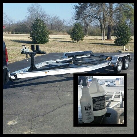 how to clean aluminum trailers