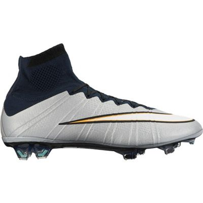 Nike Mercurial Superfly CR7 Firm Ground Football Boots Silver. Available  from Kitbag.com.