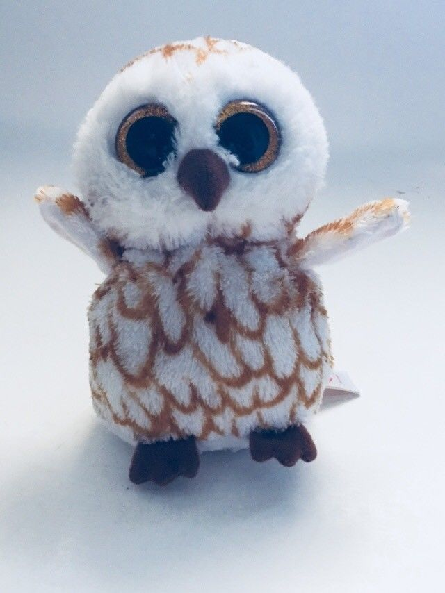 """Ty Beanie Boo Swoops owl 6"""" Plush Doll 2014 Perfect for Easter #Ty"""