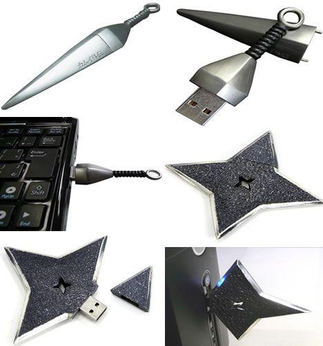 Awaken ninja-geek with these weaponized USBs.