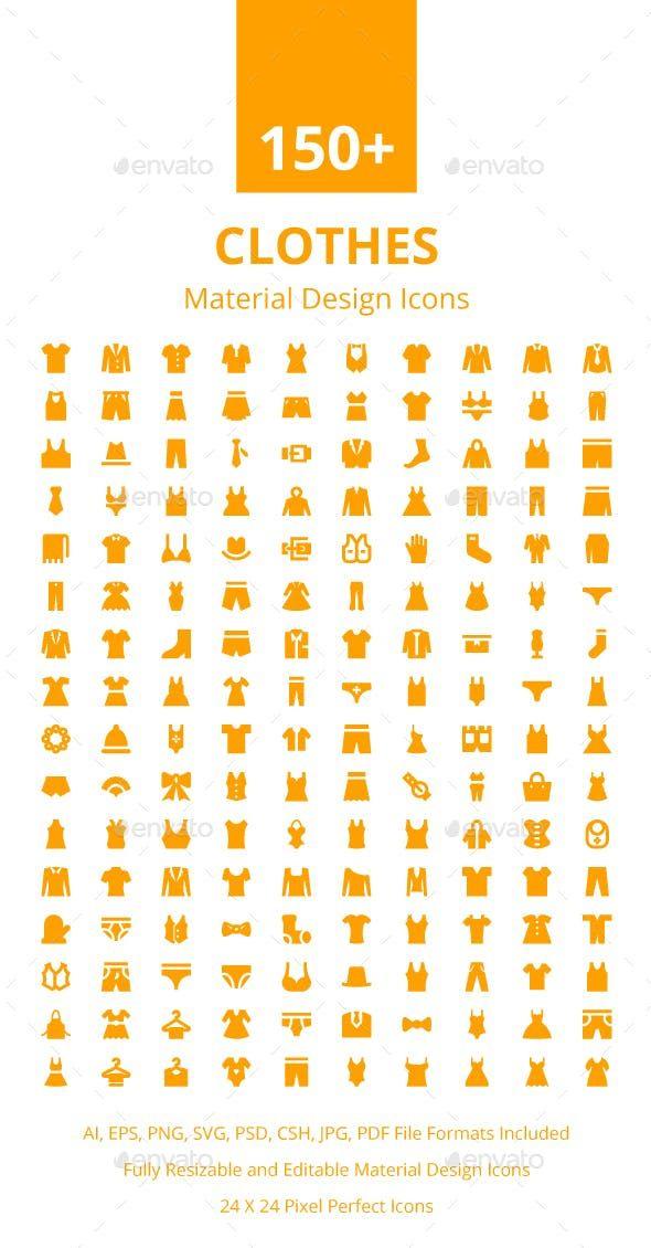 150 Clothes Material Design Icons Icon Design Material Design