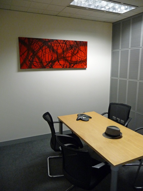 I'm very happy when companies want something special in their meeting rooms.  #abstractart #art #interiordesign #commercialart #corporateart #modernart  www.mendo.com.au