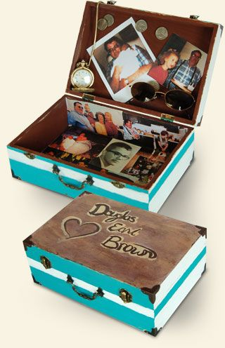 A memory box is a safe container where you can both contain your grief and open it up whenever you want to. Each time you view your box and explore its contents, you may feel more connected to the spirit of your loved one.