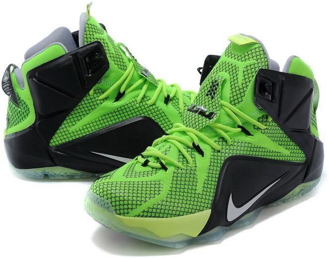 tênis de marcas Nike Lebron 12 EP Verde/Preto
