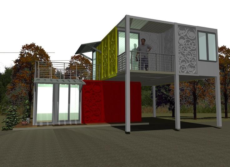 43 best ideas about casas hechas con contenedores on - Casa hecha de contenedores ...