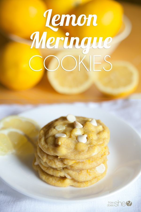 If you love lemon, and you love cookies, then you'll really love these delightful lemon meringue cookies