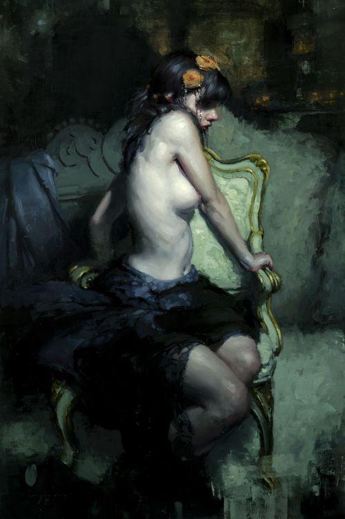 """White Nights in Winter"" - Oil on Panel - 36 x 24 in., 2013. Jeremy Mann"