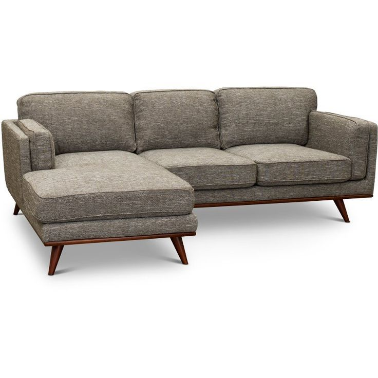 Modern Gray Sectional Sofa With Raf Loveseat Camden