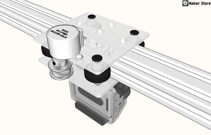 A DIY Arduino controller camera slider from Maker Store.