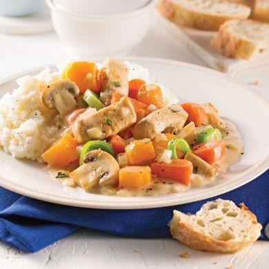 Ragoût de poulet, sauce crémeuse à la mijoteuse - Recettes - Cuisine et nutrition - Pratico Pratique