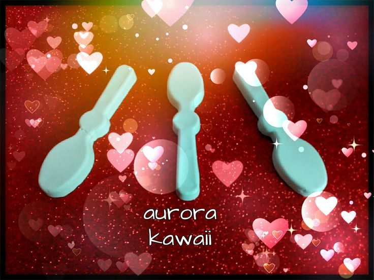 ♥Cucchiaini in gesso bianchi♥|| aurora kawaii