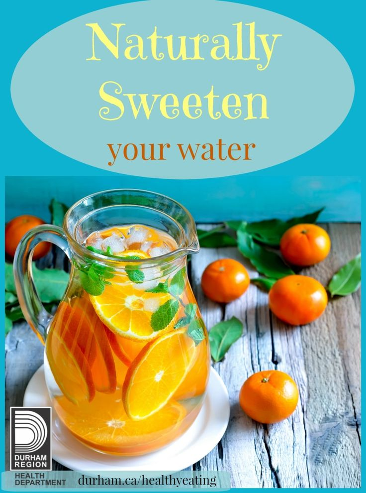 Keep the holidays sweet but not with your drink. Fill a pitcher  with water and sliced up fruit to add flavour. Keep the pitcher in the fridge ready to quench your thirst without the added sugar.