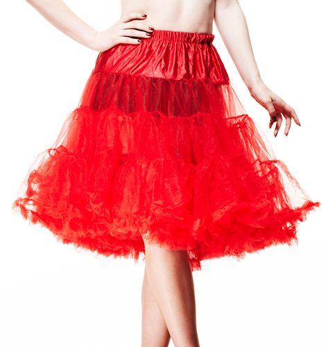 "Hell Bunny 64cm/25"" Crinoline Rockabilly Petticoat - Red"