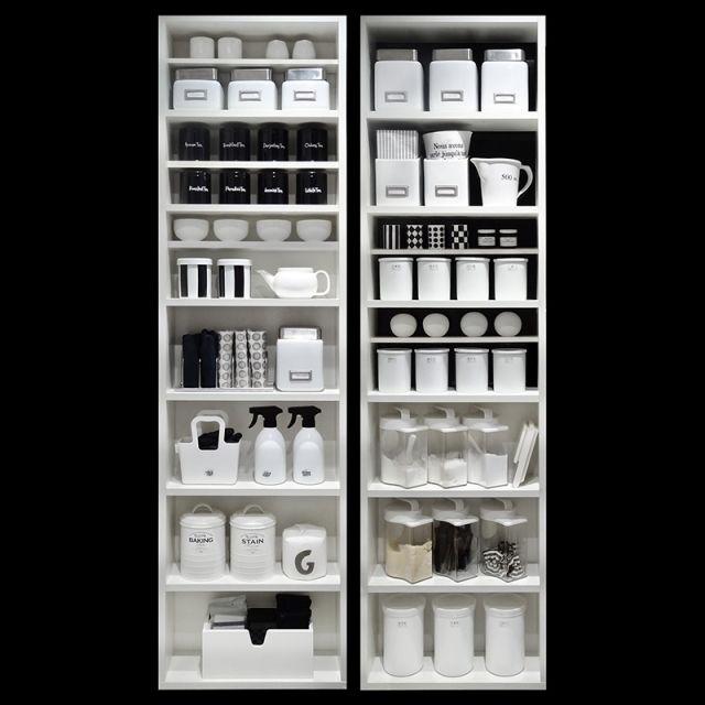 収納/Kitchen/調味料収納/キッチン収納/モノトーン/白黒…などのインテリア実例 - 2014-06-12 06:26:35 | RoomClip(ルームクリップ)