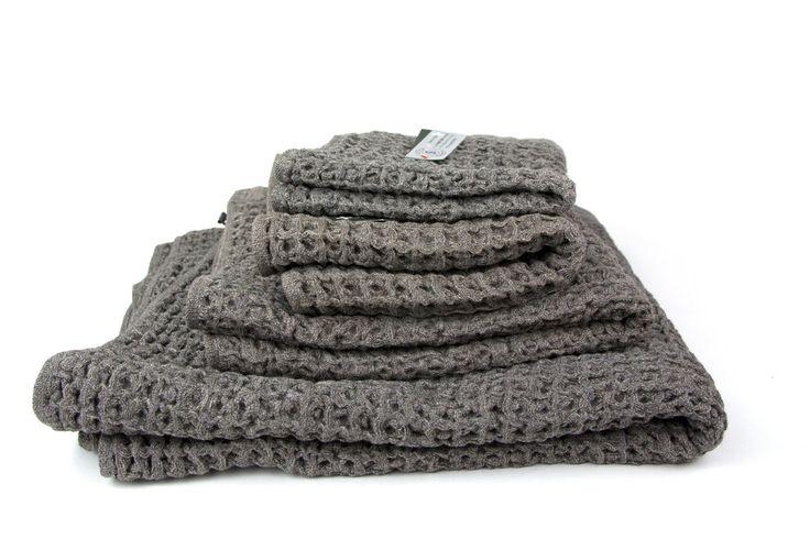 Kontex Lattice Towel, Brown – rikumo