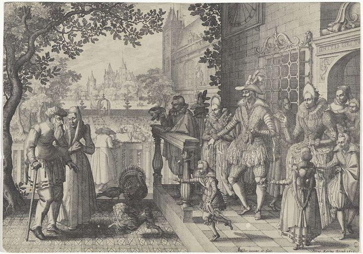Rijke kinderen, arme ouders, Claes Jansz. Visscher (II), Pieter van der Keere, 1609
