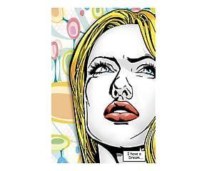 Stampa su tela con telaio in legno I have a dream - 120x80x3 cm