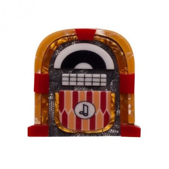 Round She Goes - Market Place - ERSTWILDER Jess Jivin' Jukebox BROOCH